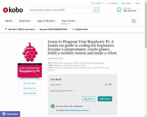 learn to program your raspberry pi on Kobo